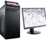 Lenovo ThinkCentre computer and monitor