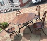 Ercol dining table and chairs.
