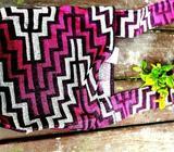 Vintage Exotic Needlepoint Fabric Handbag