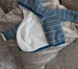 100% Cotton Fleece for BOYS! 3-6m baby Jacket perfect for cold morning walks! Worn once!