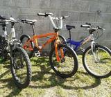 Three kid's bikes