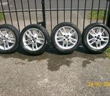 4 alloys wheels for fiat punto plus exhaust pipe for chevrolet kalos 1.2 hatchback