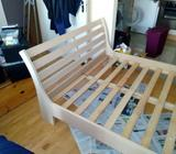 4ft 6in Sleigh Bed Frame - Free