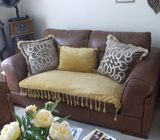 BROWN LEATHER SOFAS VERY GOOD CONDITION