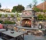 Outdoor Stone Patio and Garden Features