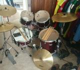 Premier Olympic Series Drum Kit plus two Paiste Cymbals