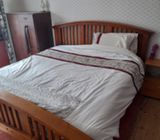 Solid Wood Superking Bed Frame. Immaculate Quick Sale