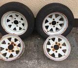 Set of 4 x 15' VW Beetle wheels