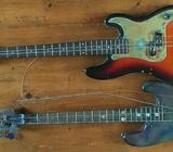 2 Westfield Bass Guitars