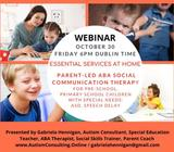 Webinar: ABA Social Communication Therapy as Essential Service for ASD Children 0-14 y.o