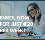 Enrol now for just €20 per week | Pitman Training