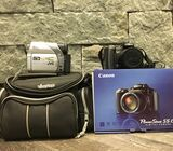 Canon camera and jvc camcorder