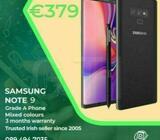 Samsung Note 9 128GB Grade A unlocked