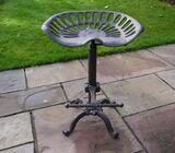 Industrial cast iron stool