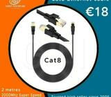 Cat8 Ethernet cable 2000Mhz Super Speed