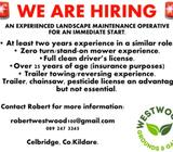 Landscape maintenance operative