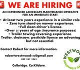 Experienced landscape maintenance operative