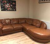 L shape Italian leather sofa