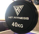 40kg rubber end barbell