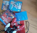 SONY 4, 3 GAMES 2CONTROLLERS