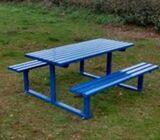 Steel picnic benchs