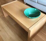 Light Oak veneer coffee table – L 120, H 42, W60 cm.
