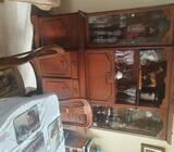 Cabinet plus dining table and chairs