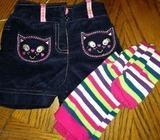 9-12 mths shorts & tights set