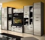 MOCCA set: Tv wall unit / wardrobe / cabinet / chest of drawers