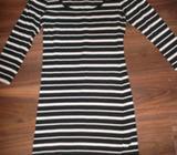 Black + White Long Length Top. Size 12