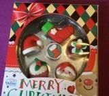 Set of 5 Christmas rubber toy