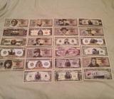 Novelty celebrity dollar notes