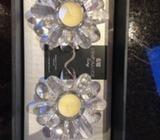 Newgrange Lotus flower tea light holders & 2 tea light in box