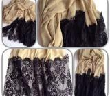 Gorgeous hijab,scarf with lace