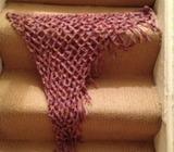Hand crocheted wrap scarf