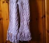 Handknit Cotton Lilac Scarf