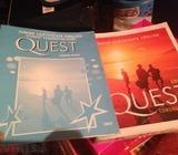 Quest book and workbook , junior very English