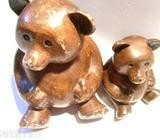 Bears solid wood sculptures