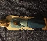 Hand carved and painted wooden Angel