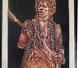 Jimi Hendrix Wood Carving