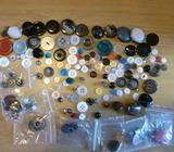 125 buttons, different sizes and colours