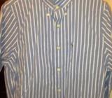 New A&F Blue stripe shirt
