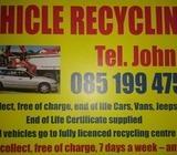 Vehicle recycling tel. John 0851994755
