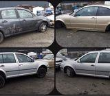4 scrap cars for sale