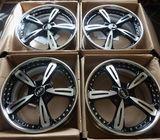 19'' ASA BBS Alloy wheels - 3 piece Splits, New! Audi, VW, Seat, Mercedes