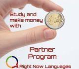 Study and make money with Right Now Languages