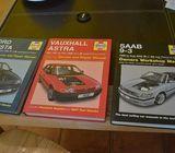 Haynes Manuals Ford Fiesta 89-95 , Saab 9-3 98-02 , Vauxhall Astra 91-98